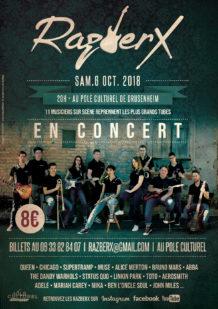Concert RazberX pop rock à Drusenheim octobre 2018