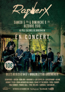 Concert pop rock RazberX à Drusenheim octobre 2019