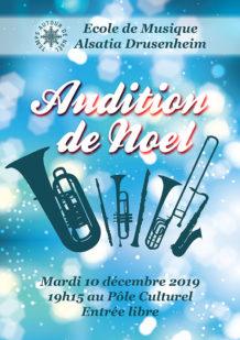 Audition de Noël école de musique Drusenheim